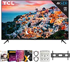 $599 » TCL 55S535 55-inch 5-Series 4K QLED Dolby Vision HDR Smart Roku TV Bundle with Premiere Movies Streaming 2020 + 30-70 Inch...