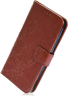Herbests Compatible with Huawei Honor 10 Wallet Case Embossed Mandala Lace Flower Pattern Leather Flip Stand Magnet Wallet Case Shockproof Soft TPU Bumper with Card Slots,Gray
