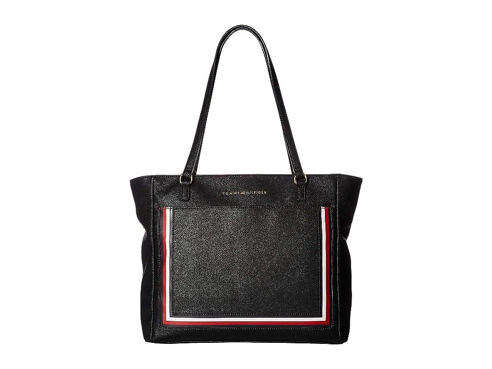 Tommy Hilfiger Carmen Tote (Black) Tote Handbags
