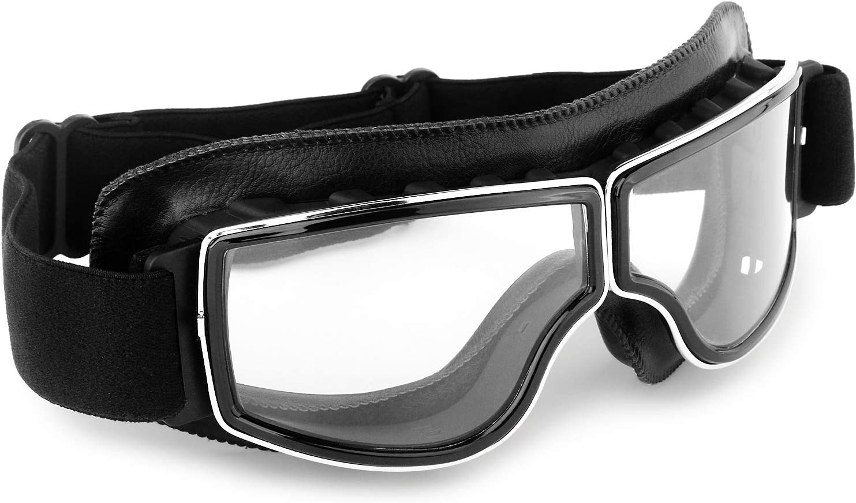 Motorcycle Goggles Vintage Max 86% OFF Anti Fog Glasses ATV Reservation Dustproof Pilot