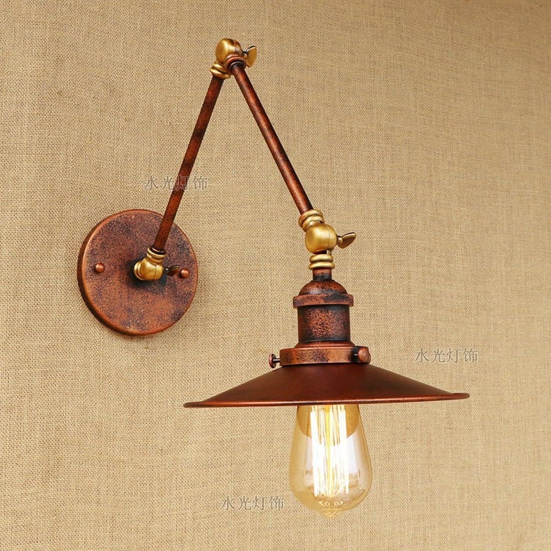 Rishx Rust Farbe Industrial Vintage Metal Wandleuchte verstellbare Schwinge Wandleuchte Licht E27 1-Licht Edison Simplicity Wandleuchte Beleuchtung (Gre   15+30)