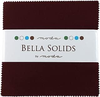 Bella Solids Burgundy Moda Charm Pack by Moda Fabrics; 42-5