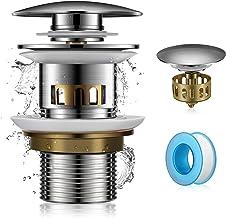 Tapones de Desagüe Lavabo Válvula Pop-up, Tapones de Desagüe con Diseño de Pop-up Para Fregadero de Válvula de Desagüe con...
