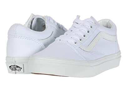Vans Kids Old Skool (Little Kid) (True White/True White) Kids Shoes