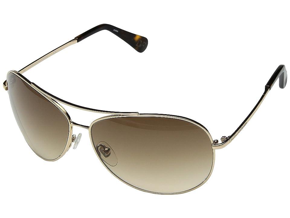 Diane von Furstenberg 14810 (Golden) Fashion Sunglasses
