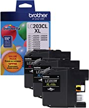 Brother Genuine High Yield Color Ink Cartridge, LC2033PKS, Replacement Color Ink Three Pack, Includes 1 Cartridge Each of ...