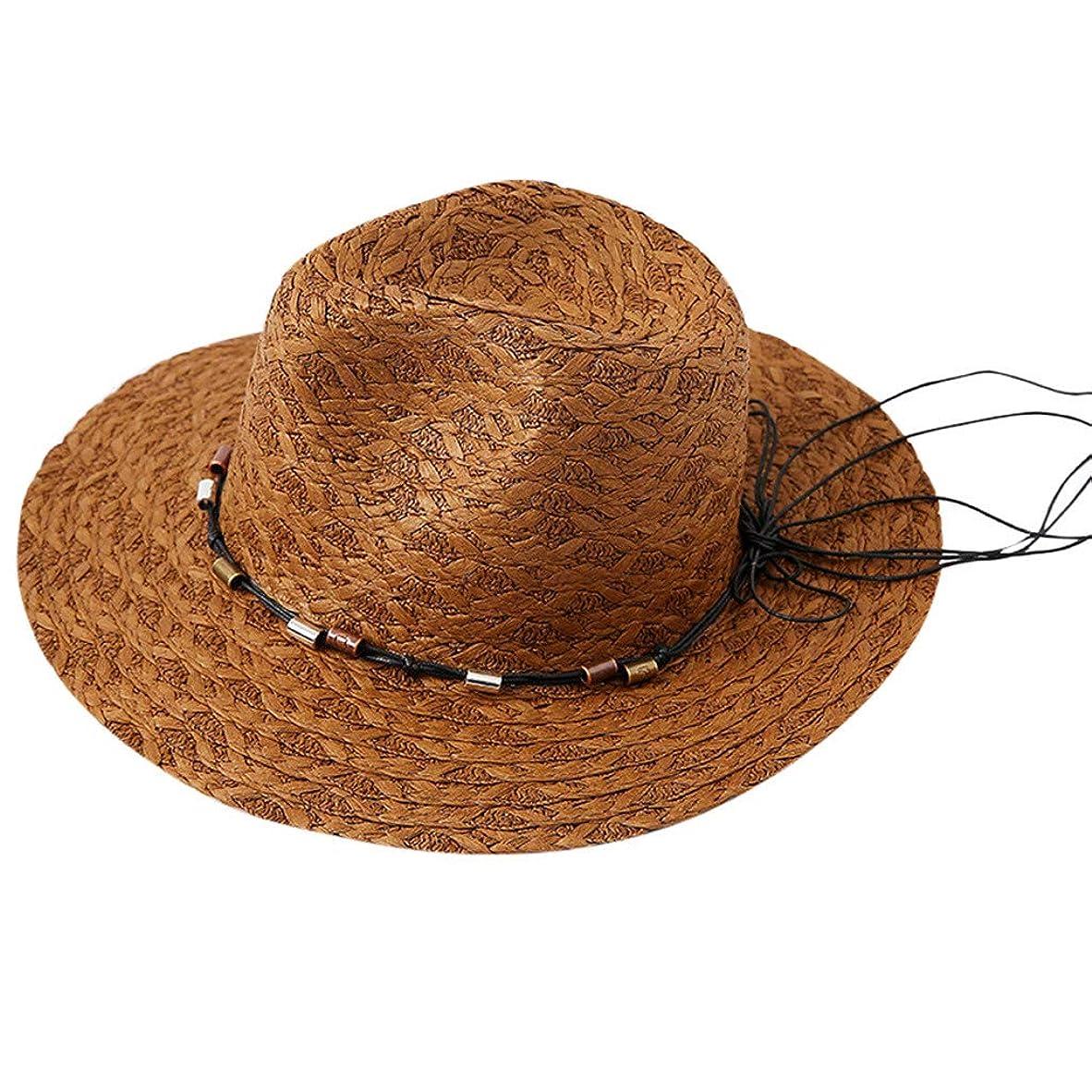 シーケンスコンプライアンスブラジャー麦わら帽子 レディース UVカット ハット つば広 帽子 サイズ調整 テープ ハット 日除け キャップ レディース 小顔効果 紫外線防止 レディース 日よけ 日常用 可愛い ペーパーハット 紫外線対策 日焼け防止 ROSE ROMAN