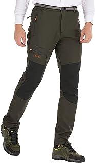 DAFENP Pantalones Trekking Hombre Impermeable Pantalones de
