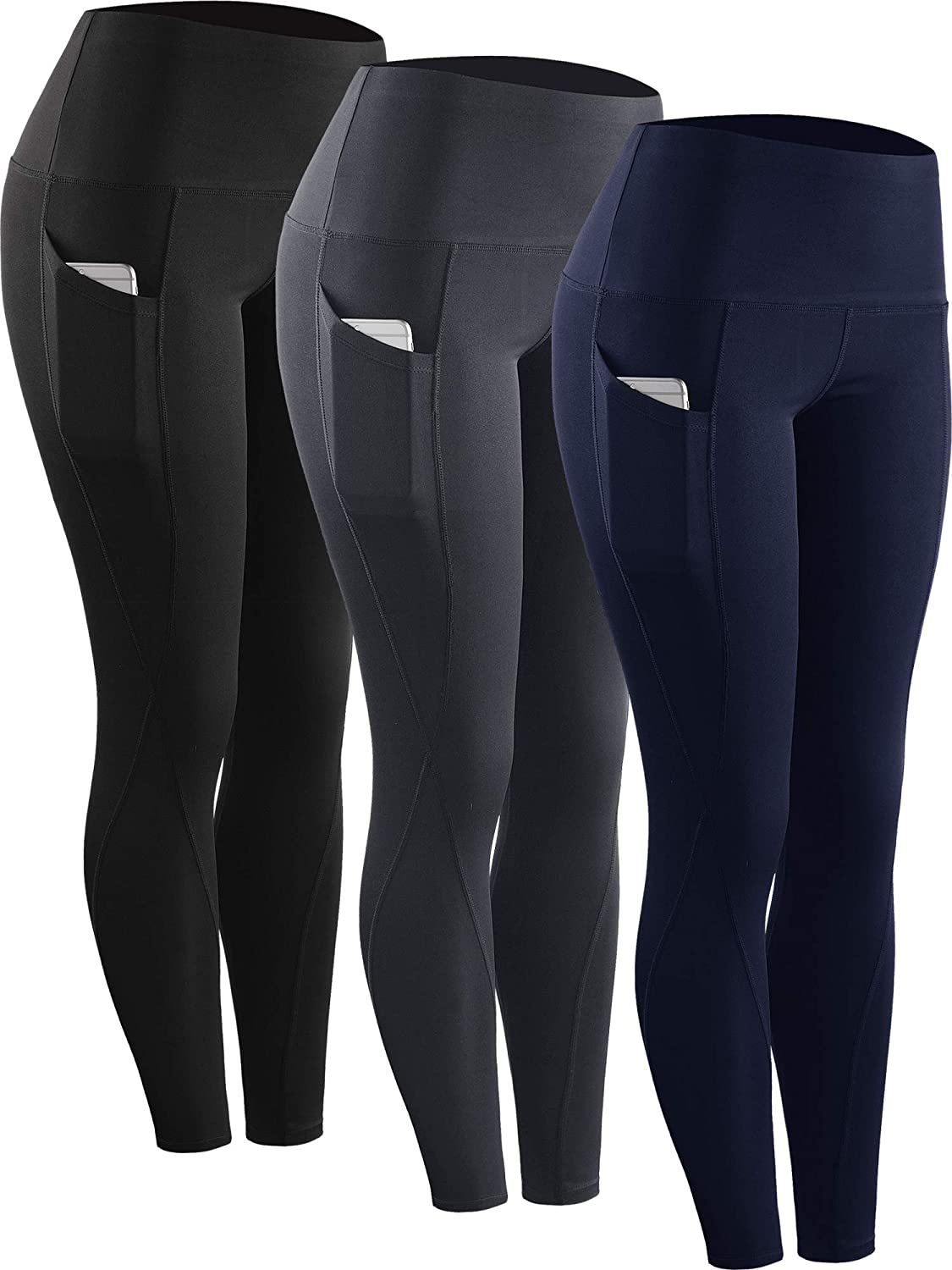 Genuine Neleus High Waist Running Workout Raleigh Mall for with Yoga Pockets Leggings