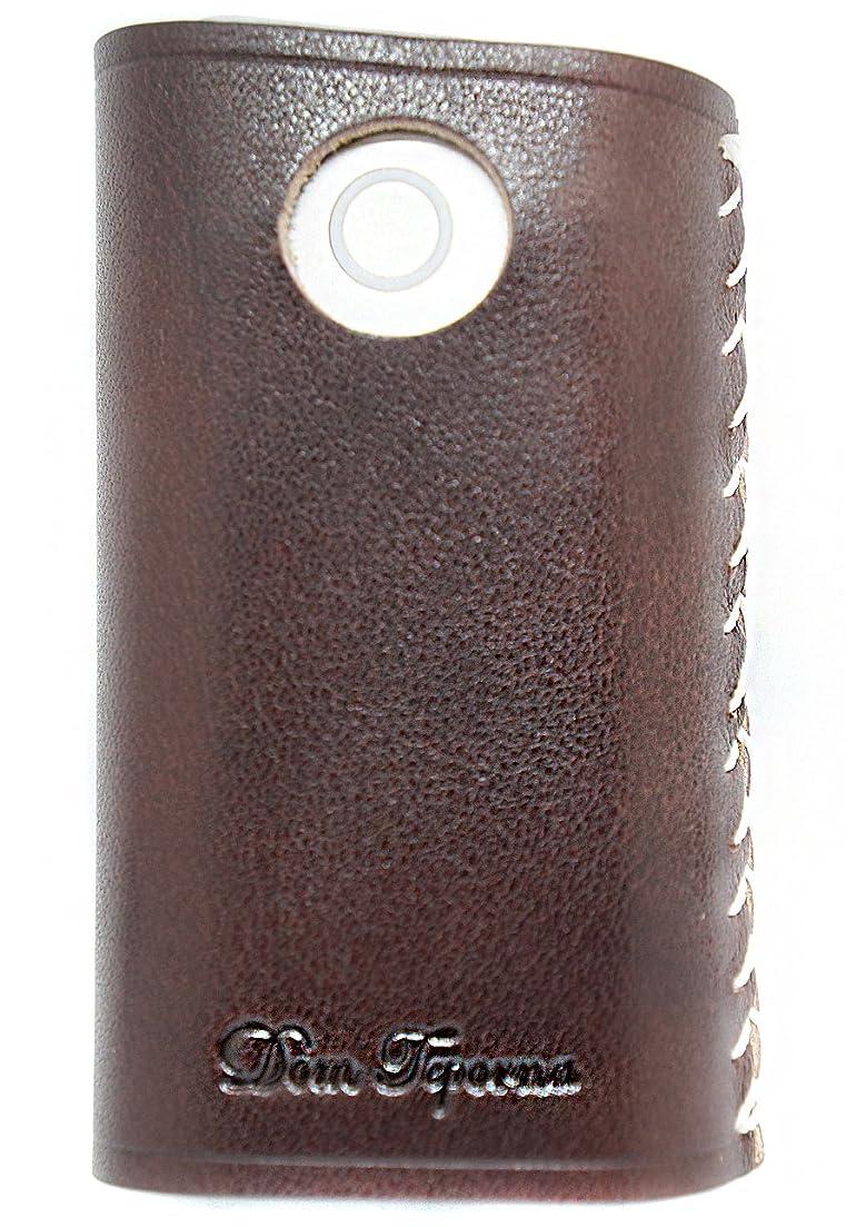 リラックスしたジーンズやりすぎ極上イタリアン産 レザー グローケース 牛革 レザー ダークブラウン ME0153_c2