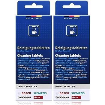 Bosch TCZ6001 - Pastillas de limpieza para cafeteras (2 unidades, 10 pastillas cada una): Amazon.es: Alimentación y bebidas