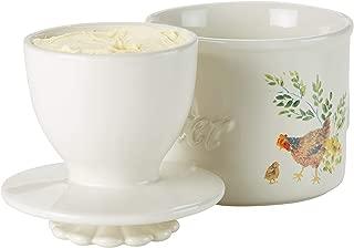 Paula Deen 47697 Holder Stoneware Butter Dish, Garden Rooster