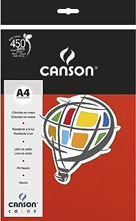 Papel Colorido A4 120g/m², Canson, 66661219, Vermelho, 15 Folhas