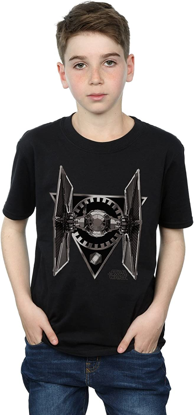 STAR WARS Boys The Last Jedi Tie Fighter T-Shirt 9-11 Years Black
