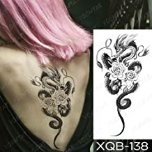 JXAA Etiqueta engomada del Tatuaje a Prueba de Agua Wolf Tree Rose Moon Tattoo Fox Clock Flower Body Art Manga del Brazo Mujeres Hombres 12-XQB138