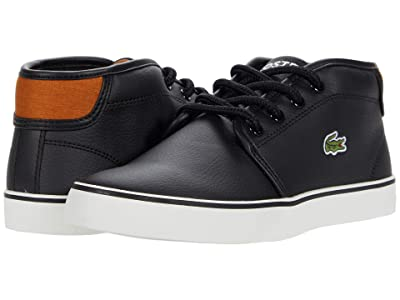 Lacoste Kids Ampthill 0120 1 CUJ (Little Kid/Big Kid) (Black/Brown) Kid