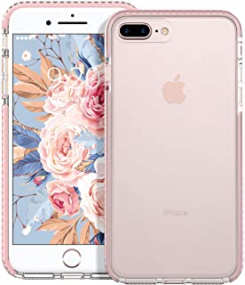 MATEPROX iPhone 8 Plus Case iPhone 7 Plus Case Clear Shield Heavy Duty Anti-Yellow Anti-Scratch Shockproof Cover Compatible with iPhone 8p/7p (Pink)