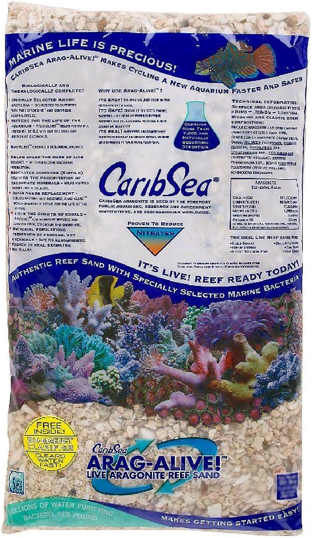 CaribSea AragAlive Natural Reef Aquarium Gravel, 16 lbs.