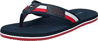 Tommy Hilfiger Corporate Badge Beach Sandal, Men Fashion Sandals, Red (Rwb)