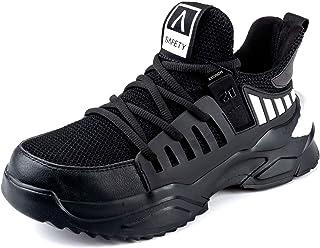 CHNHIRA Chaussures de Securité Homme Embout Acier Protection Antidérapante Anti-Perforation Chaussures de Travail Unisexes