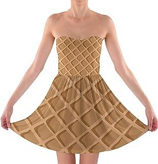 Icecream Waffle Cone Strapless Bra Top Dress