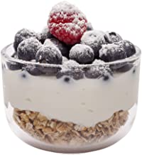Glass Parfait Cup, Glass Parfait Dish - Small Glass Dessert Bowl - 5 oz - 10ct Box - Restaurantware