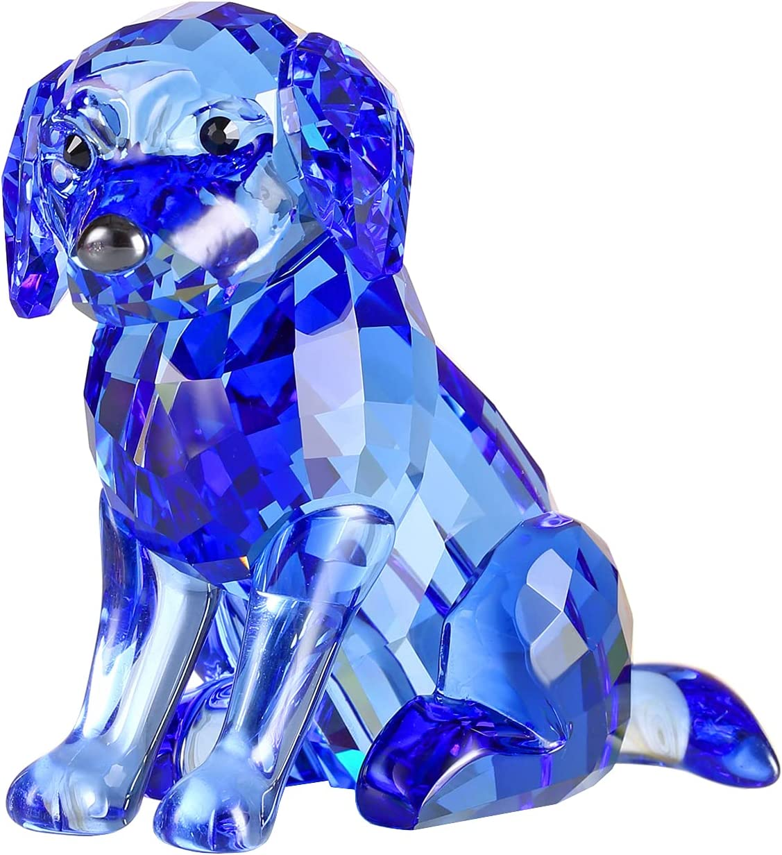 Crystal Labrador Dog Puppy Figurine Ranking TOP18 low-pricing De Craft Home Animals Lovely