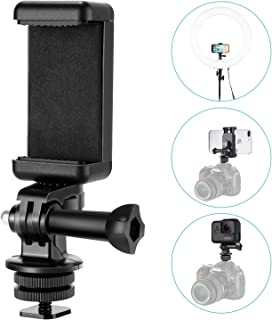 Neewer Hot Shoe Mount Adapter Kit-Attach your Phone or GoPro Hero to the Flash Mount of your DSLR Camera or Ring Light-Record your Photo Shoot or use Phone Apps for Lighting, Monitoring or Controlling