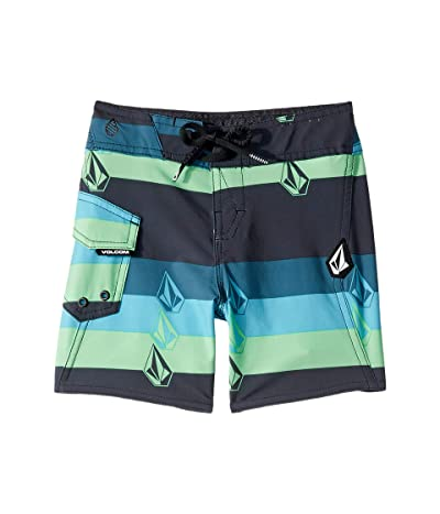 Volcom Kids Lido Liney Mod Boardshorts (Toddler/Little Kids) (Asphalt Black) Boy