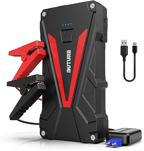 BuTure Arrancador de Coches, 800A 12800mAh Arrancador de Baterias de Coche para 6.0L Gasolina o 5.0L Diesel (800A)