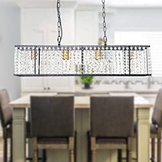 Modern Industrial Rectangle Kitchen Island Lighting,...