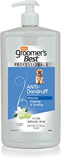 Hartz Groomer's Best Professionals Dog Shampoo for Dog Coat and Skin Care, for All Dog Sizes and Breeds, 32-Ounce Pump Bottle
