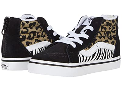 Vans Kids Sk8-Hi Zip (Infant/Toddler) ((Animal Mix) Leopard/Zebra) Girls Shoes