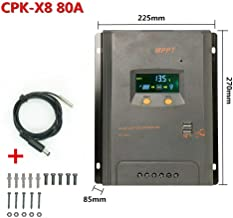 BXE CPK-2480 80A MPPT LCD Solar Panel Charge USB Controller Battery Regulator, Solar Panel Battery Charge Controller PV +10pcs Screws