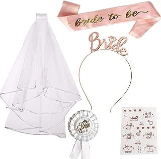 Diadema de novia y velo, accesorios para despedida de soltera, decoración de despedida de soltera, despedida de soltera, despedida de soltera