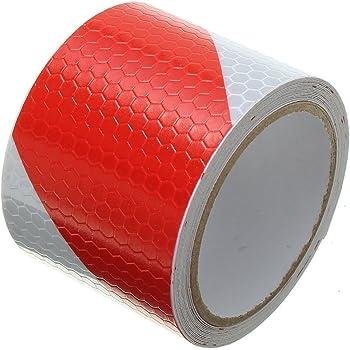 Tuqiang/® autoadesiva nastro riflettente di sicurezza attenzione Conspic Uity Night pellicola riflettente nastro adesivo 2/rotolo 5/cm /× 3/m rosso e bianco