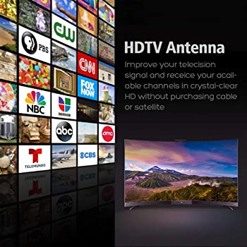 HDTV Digital Antenna -150 Miles Range w/ 360 Degree Rotation Wireless Remote - UHF/VHF/1080p/ 4K Ready(Without Pole)....