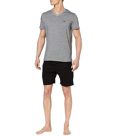 HOM Onyx Short Sleeve PJ Set (Black) Men