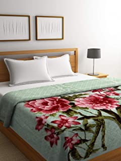 Bombay Dyeing Polyester Winter Single Bed Blanket (Red)