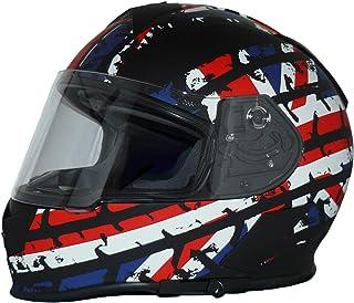 Preisvergleich für protectWEAR Motorradhelm Integralhelm mit integrierter Sonnenblende und klappbarem Visier V126-Flagge-S preisvergleich