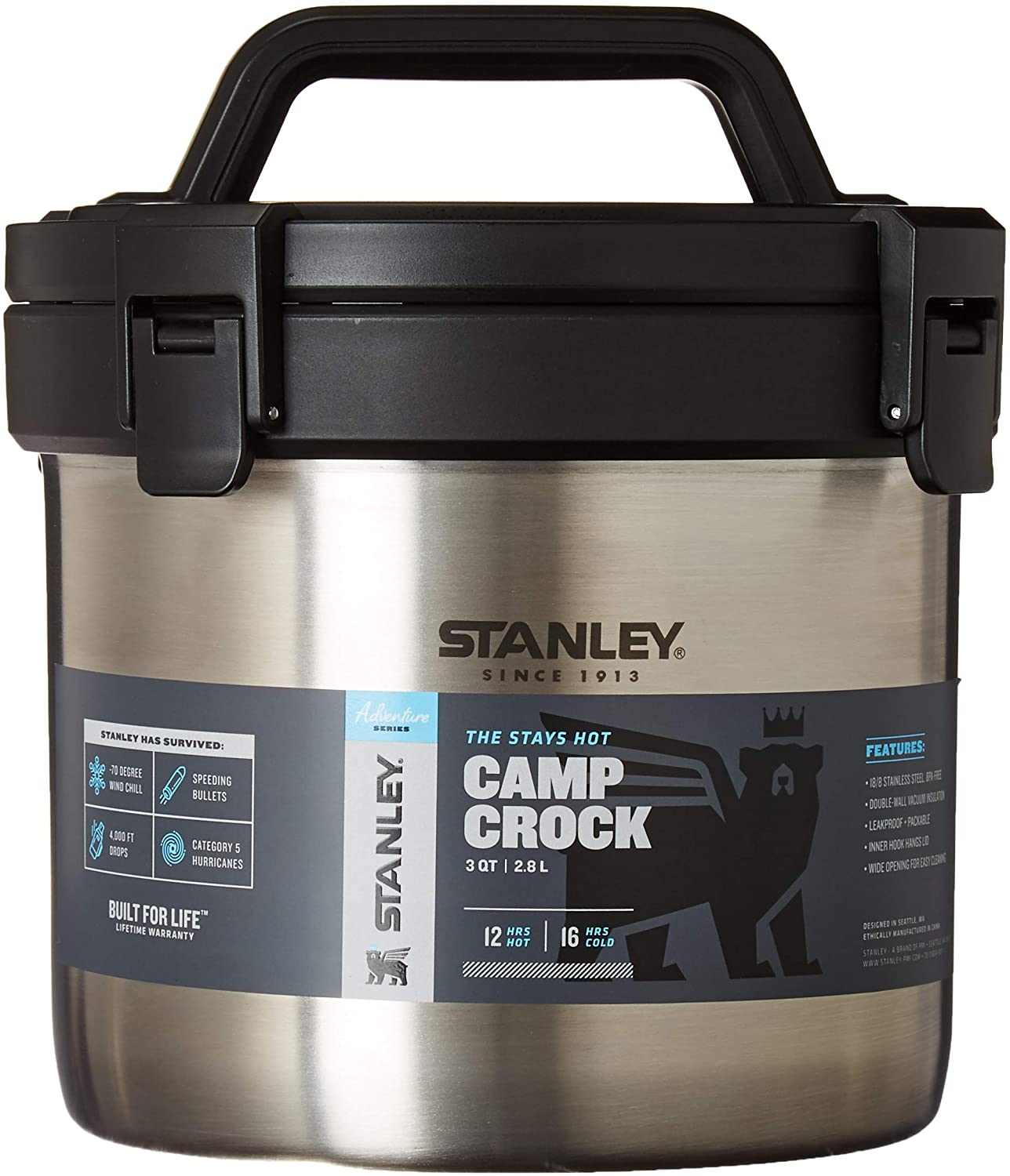 Stanley Large-scale sale Adventure Stay Hot San Francisco Mall 3QT Camp Sta Vacuum - Insulated Crock