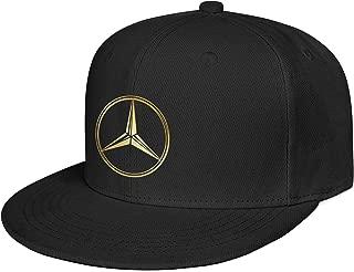 Mens Mercedes-Benz-Flash-Gold-Logo- Custom Baseball Vintage Hats Classic Fashion Caps