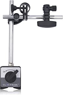 Clockwise Tools MGBR-02 Magnetic Base Stand for Digital Dial Indicator Gauge 176lbs Max Pull
