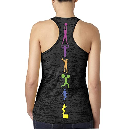 CROSSFIT Fitness exercise Training Gym Women/'s Racerback Tank Top