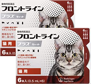 【2箱セット】猫用フロントラインプラスキャット 6本(6ピペット)(動物用医薬品)