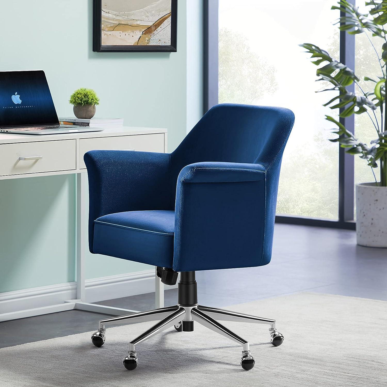 Tribesigns Modern Velvet Desk Tufted セール商品 Comput Fabric Chair 至高
