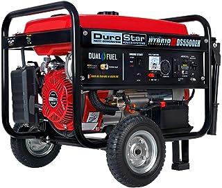 DuroStar DS5500EH Dual Fuel Portable Generator – 5500 Watt Gas or Propane..