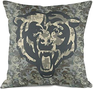 JHGFFD Veterans Day Gift Cute Soft Home Decorative 15 x 15 38cm x 38cm Square Army Camouflage Camo Throw Pillow Cover Cushion Case for Couch Sofa Car Bedroom
