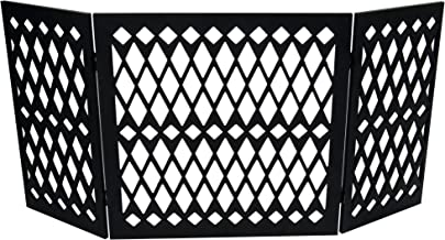 Hoovy Freestanding Decorative Pet Gate: Folding & Extending Dog & Puppy Gate for Home & Office Use | Keeps Pets Safe & Restricted to an Area | No Assembly Required