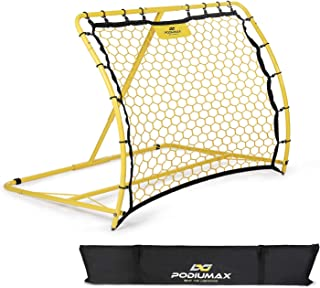 PodiuMax Portable Soccer Trainer, Rebounder Net with...